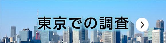 東京での調査